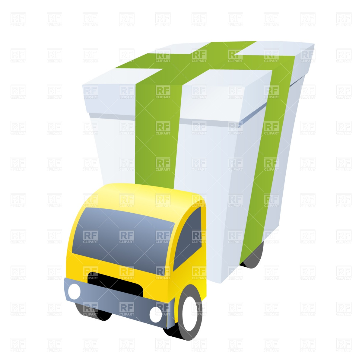 1200x1200 Delivery Truck Royalty Free Vector Clip Art Image