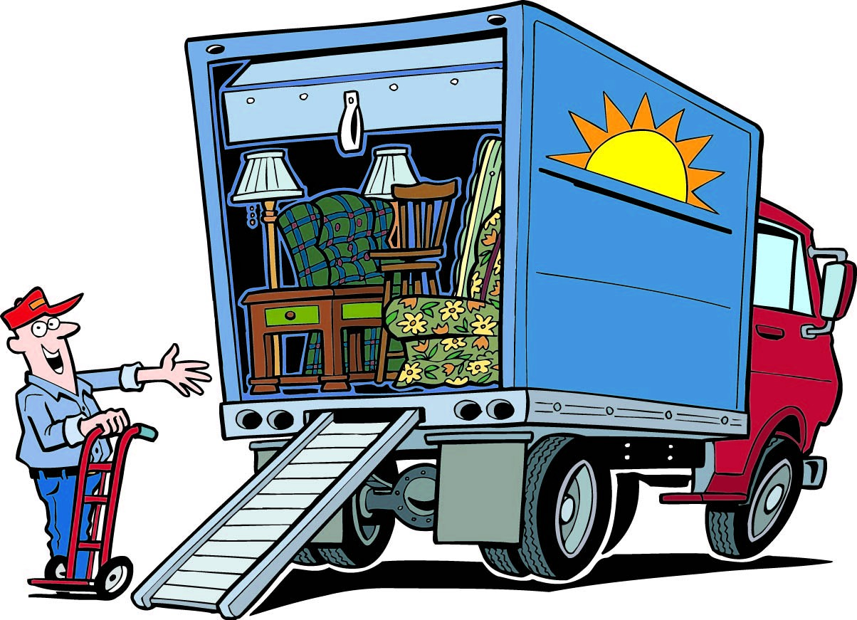 1204x871 Moving Truck Clipart
