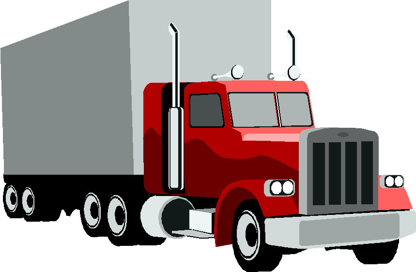 859x562 Red Clipart Delivery Truck