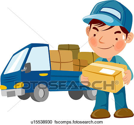 450x419 Clip Art Of Delivery Truck U22034467