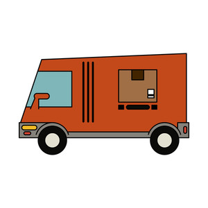 300x300 Illustration Of A Removal Man Delivery Guy With Moving Truck Van