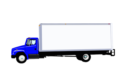 480x315 Large Commercial Box Truck Clipart