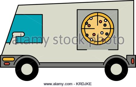 450x289 Van Mobile Cafe Icon, Cartoon Style Stock Vector Art