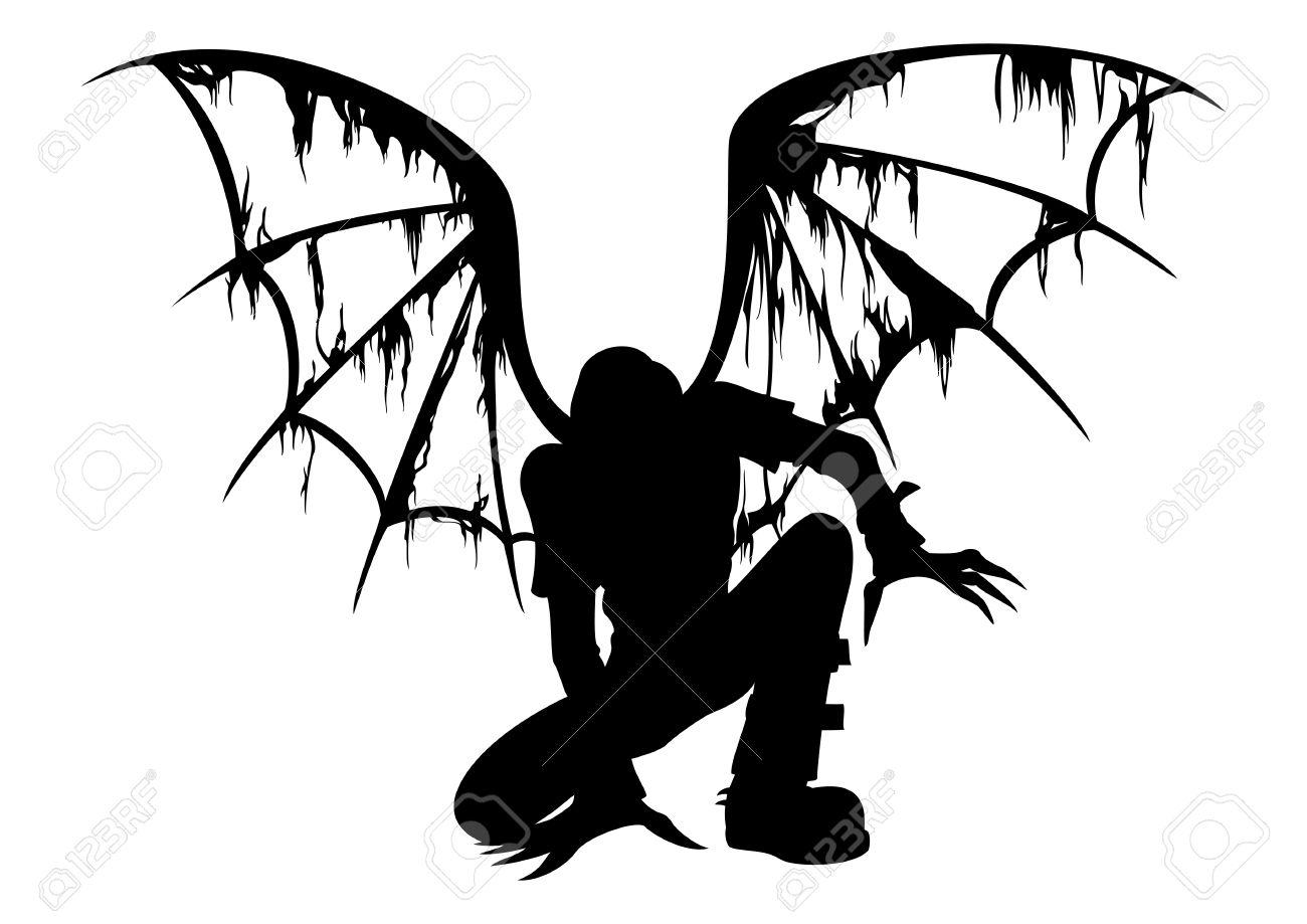 1300x919 Fallen Angel Clipart Demon