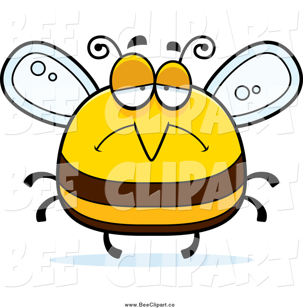 1024x1044 Cartoon Vector Clip Art Of A Pudgy Depressed Sad Bee By Cory