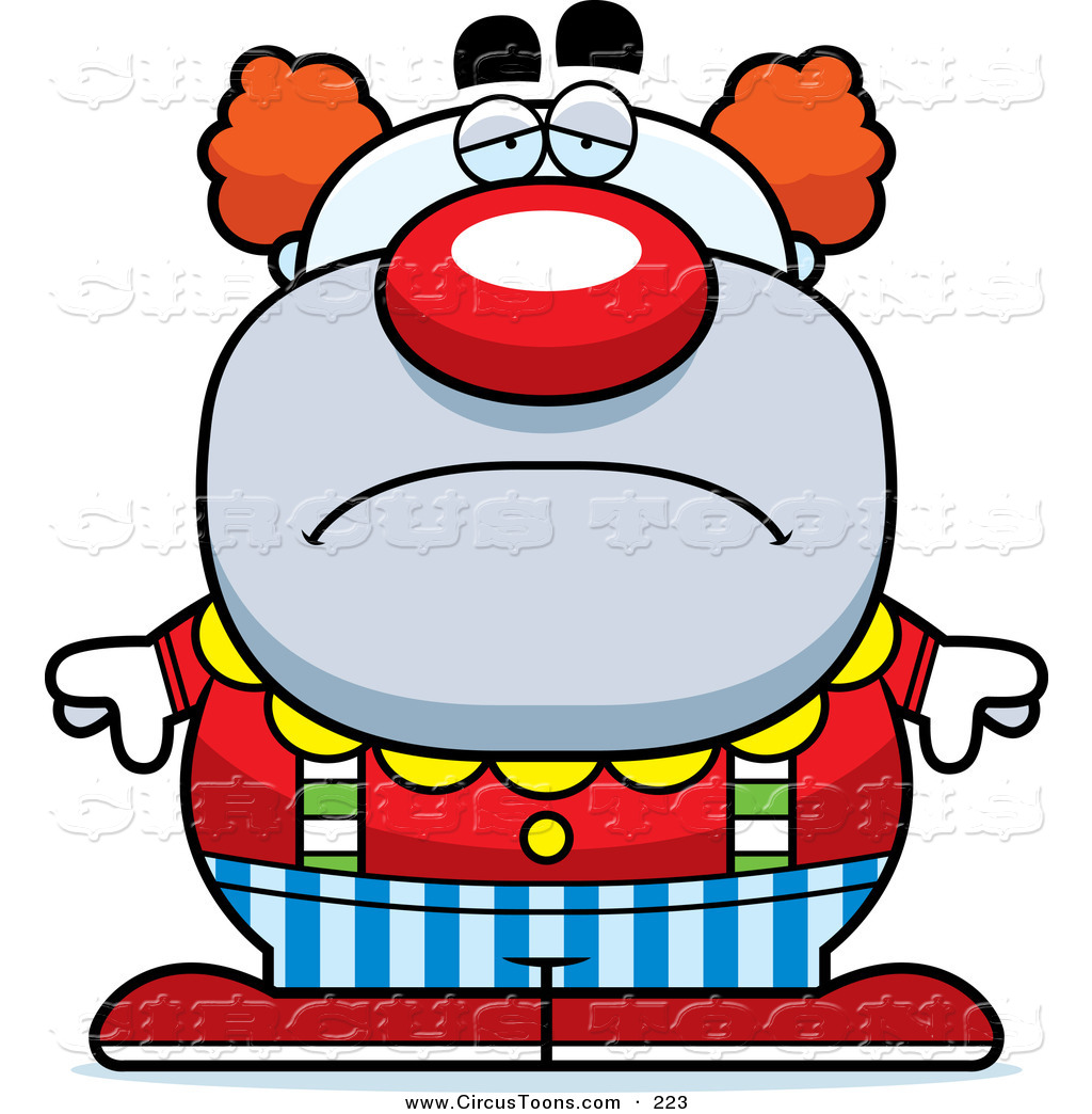 1024x1044 Circus Clipart Of A Depressed Pudgy Circus Clown Frowning By Cory