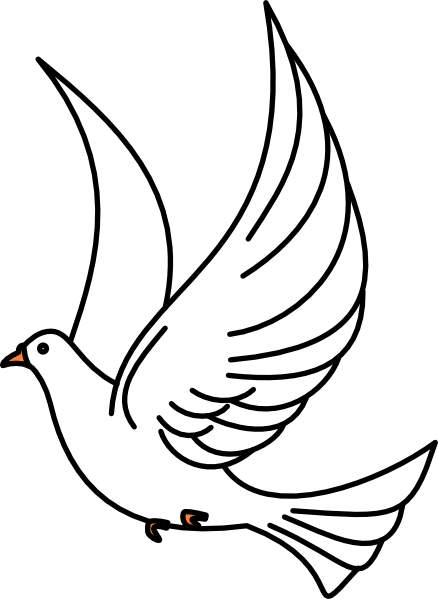 438x599 Dove Clip Art Flying Cwemi Images Gallery