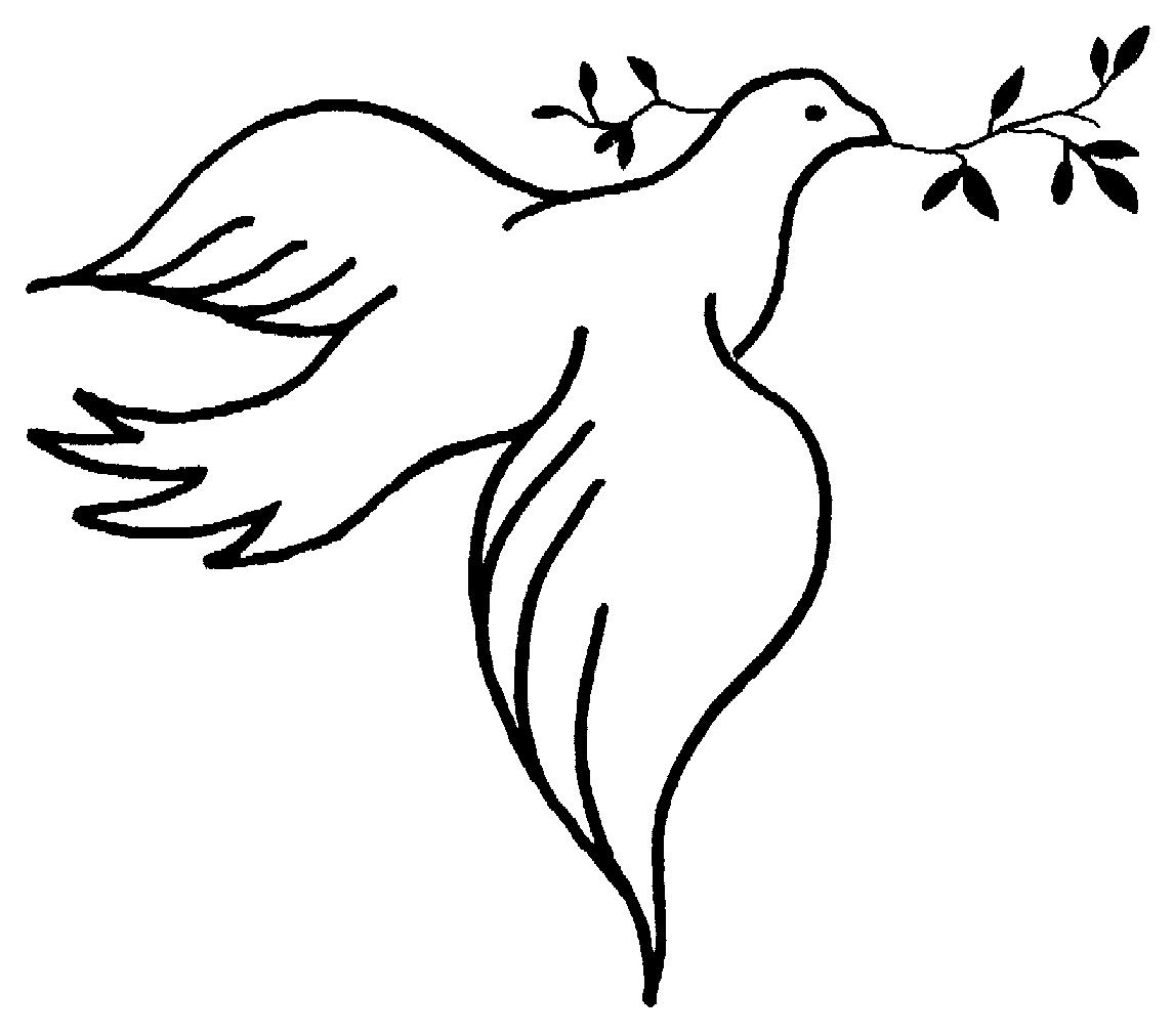 1146x1012 Holy Spirit Dove Clipart Black And White Free