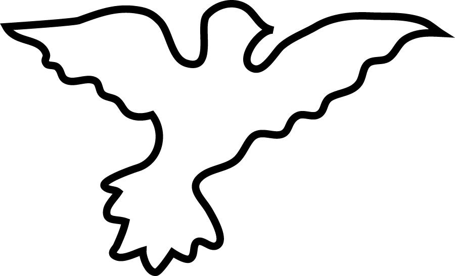 900x547 White Dove Clipart Dove Outline