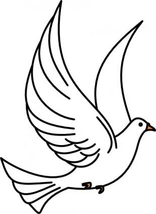 310x425 Clip Art Dove