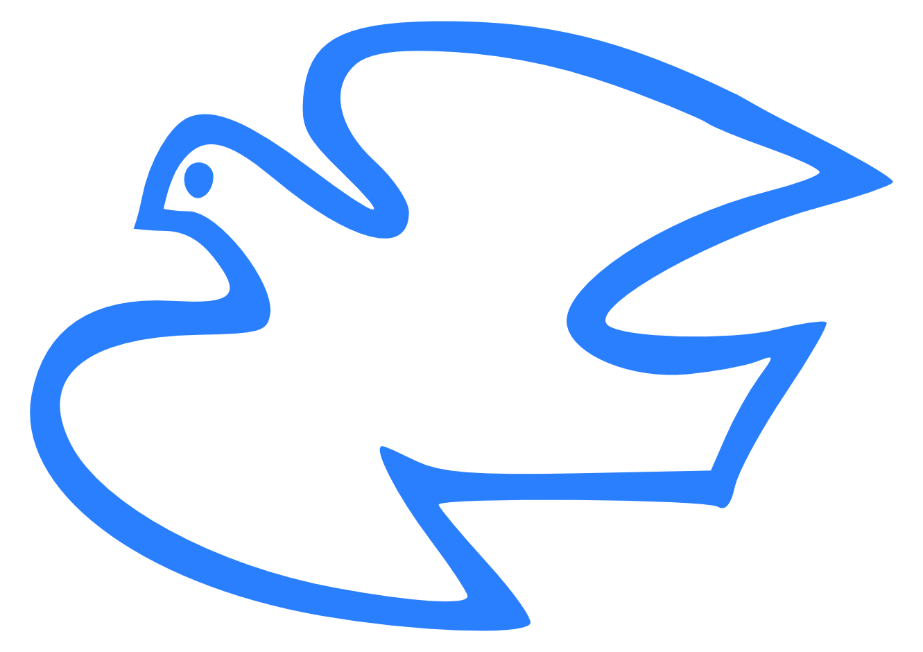 1331x940 Descending Dove Clip Art Clipartfest
