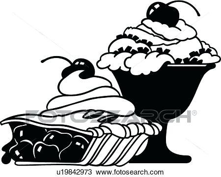 450x360 Dessert Clipart Dessert Clip Art Black And White Royalty Free Cake