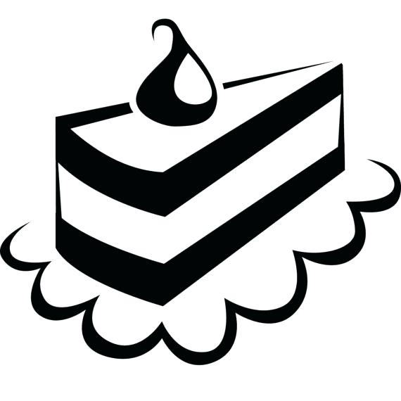 570x570 Dessert Clipart Sketch Dessert Piece Of Cake On A Plate Vector