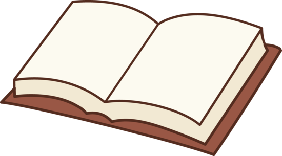 550x305 Open Book Clipart Design