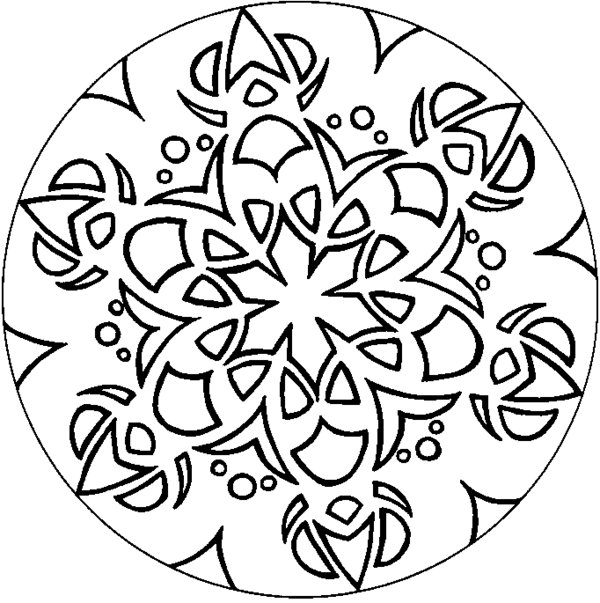 600x603 Design Art Coloring Pages Complex Batik Art Design Coloring Page