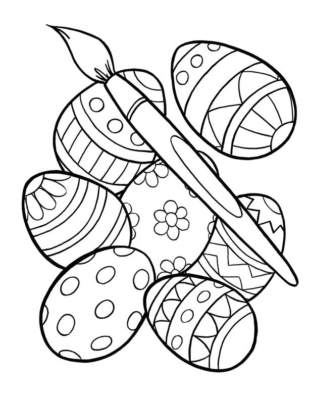 612x792 Easter Egg Coloring Pages