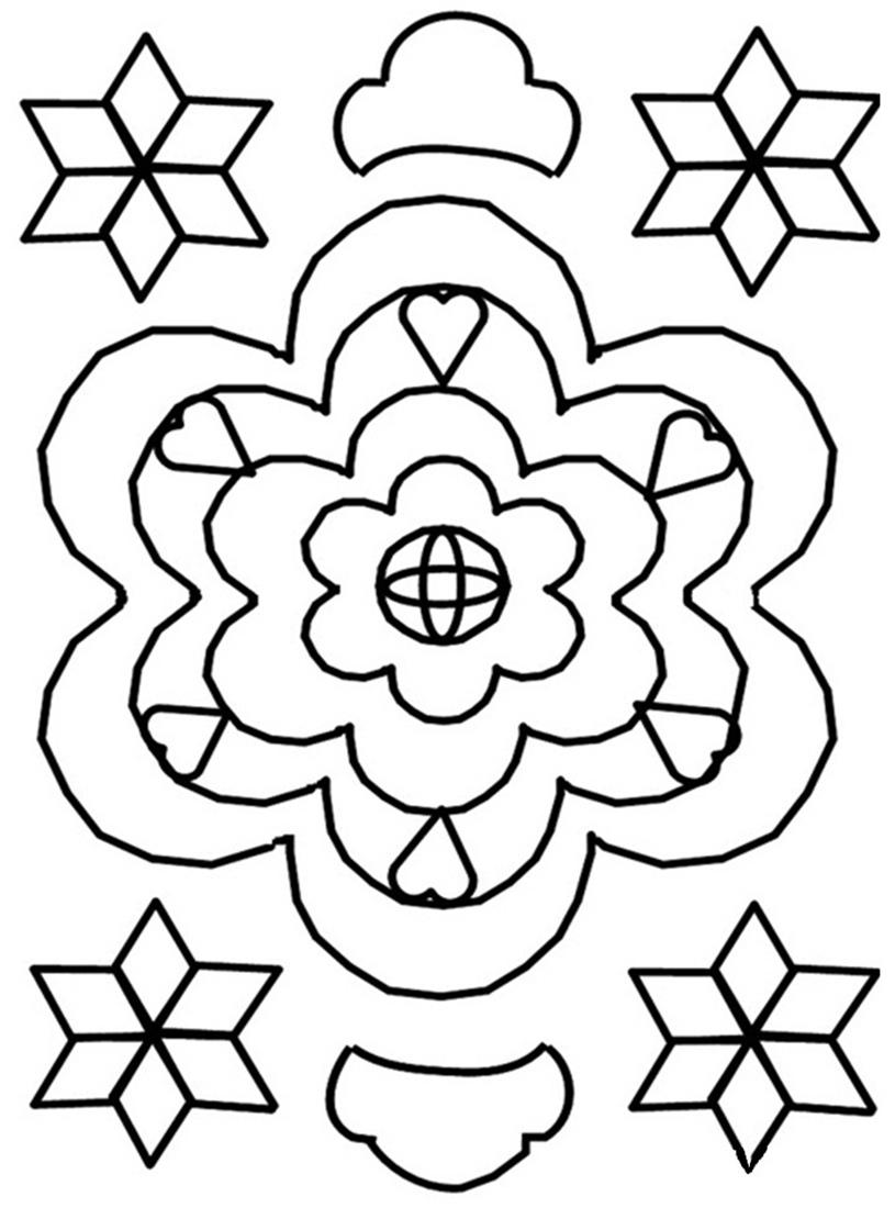 815x1100 Free Printable Rangoli Coloring Pages For Kids
