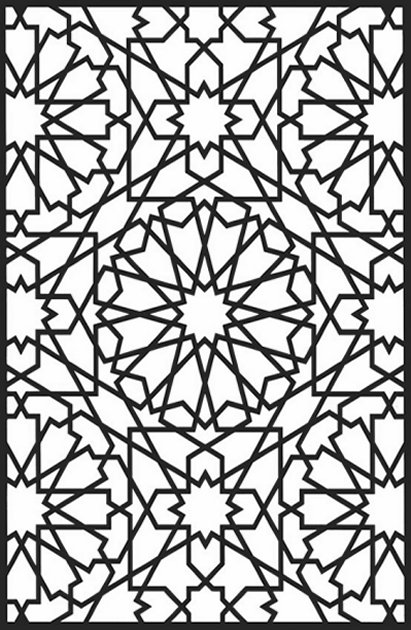 411x630 Geometric Design Colouring Pictures Stained Glass Colouring Pages