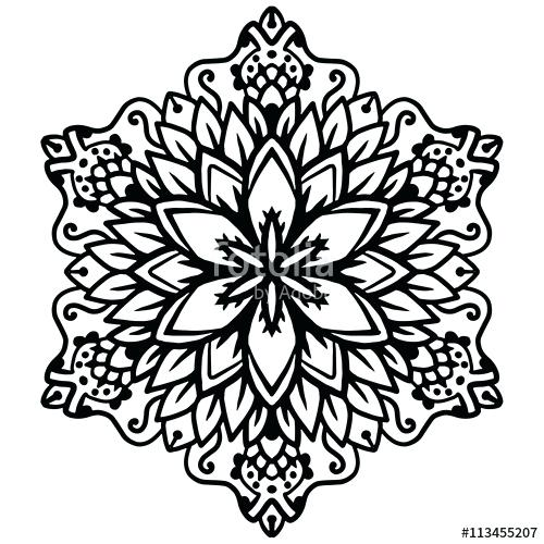 500x500 Intricate Designs To Color Black Mandala For Coloring Mandala