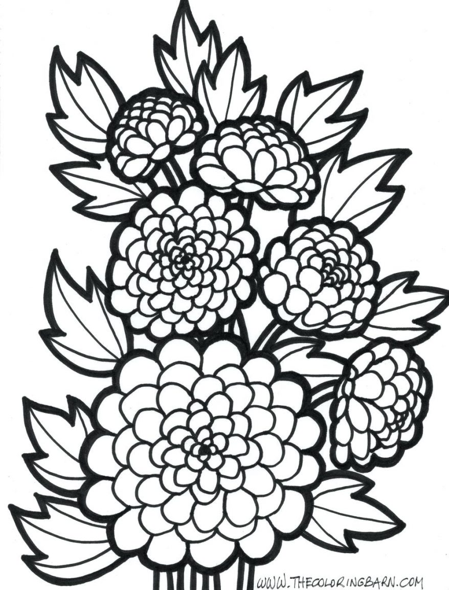 878x1152 Amazing Flowers Coloring Pages Design Gallery 113 Stunning Flower