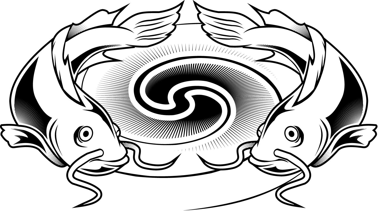 1590x888 Colouring Pages Of A Catfish Tattoo Design For Kids