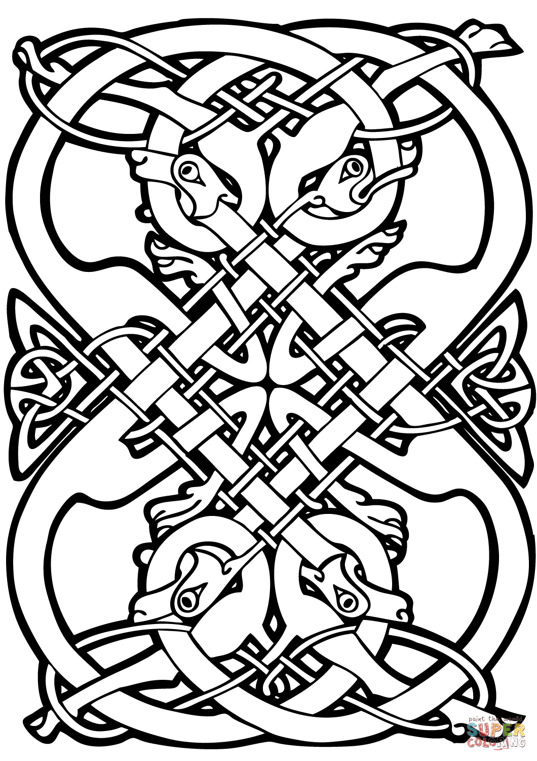 1060x1500 Celtic Design Coloring Page Free Printable Coloring Pages