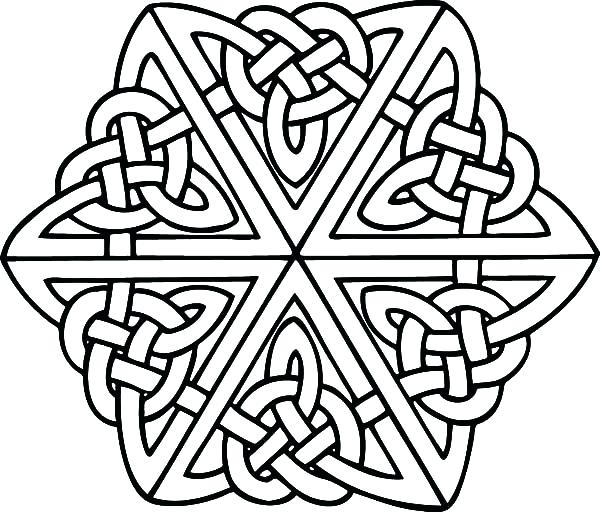 600x512 Celtic Knot Mandala Coloring Page Design Pages Printable