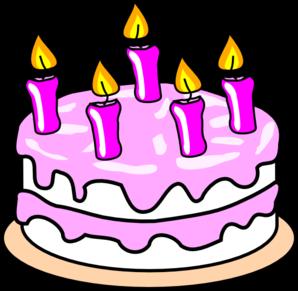 298x291 Girl S Birthday Cake Clip Art
