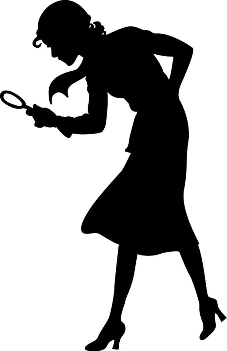 Detective Silhouette Clipart