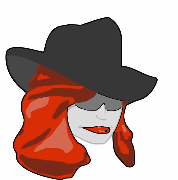 594x599 Female Detective Clip Art