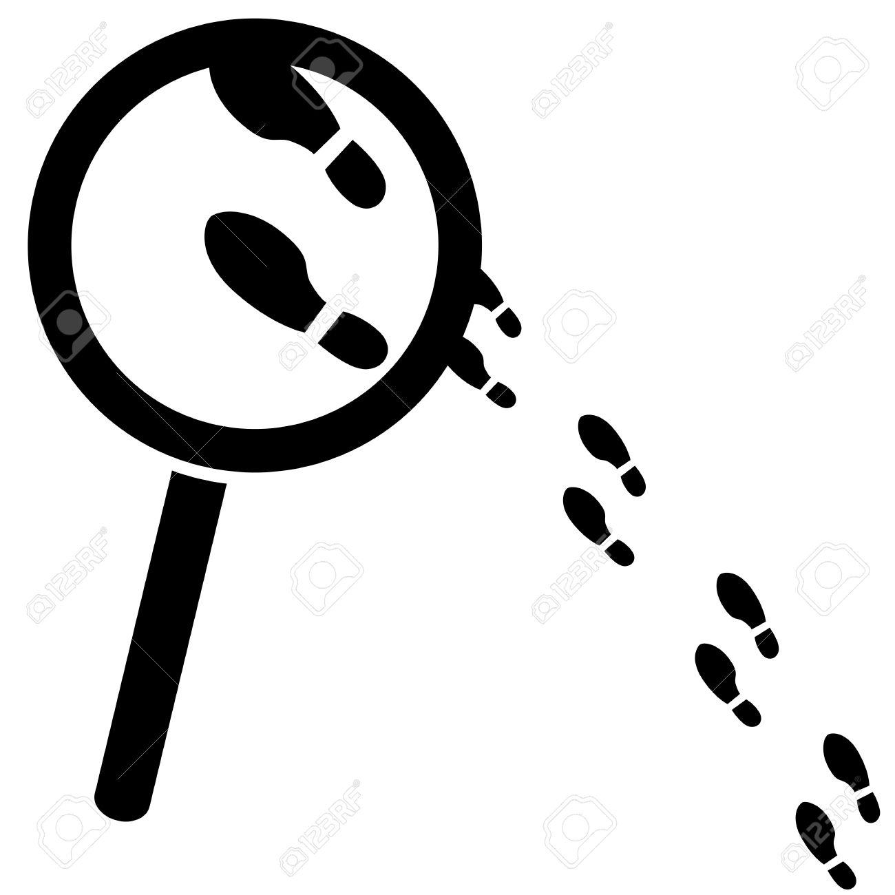 1300x1300 Footprint Clipart Detective