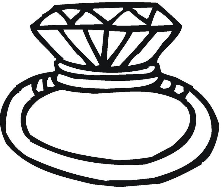 Diamond Clipart Black And White