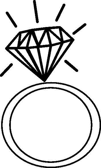 Diamond Line Art