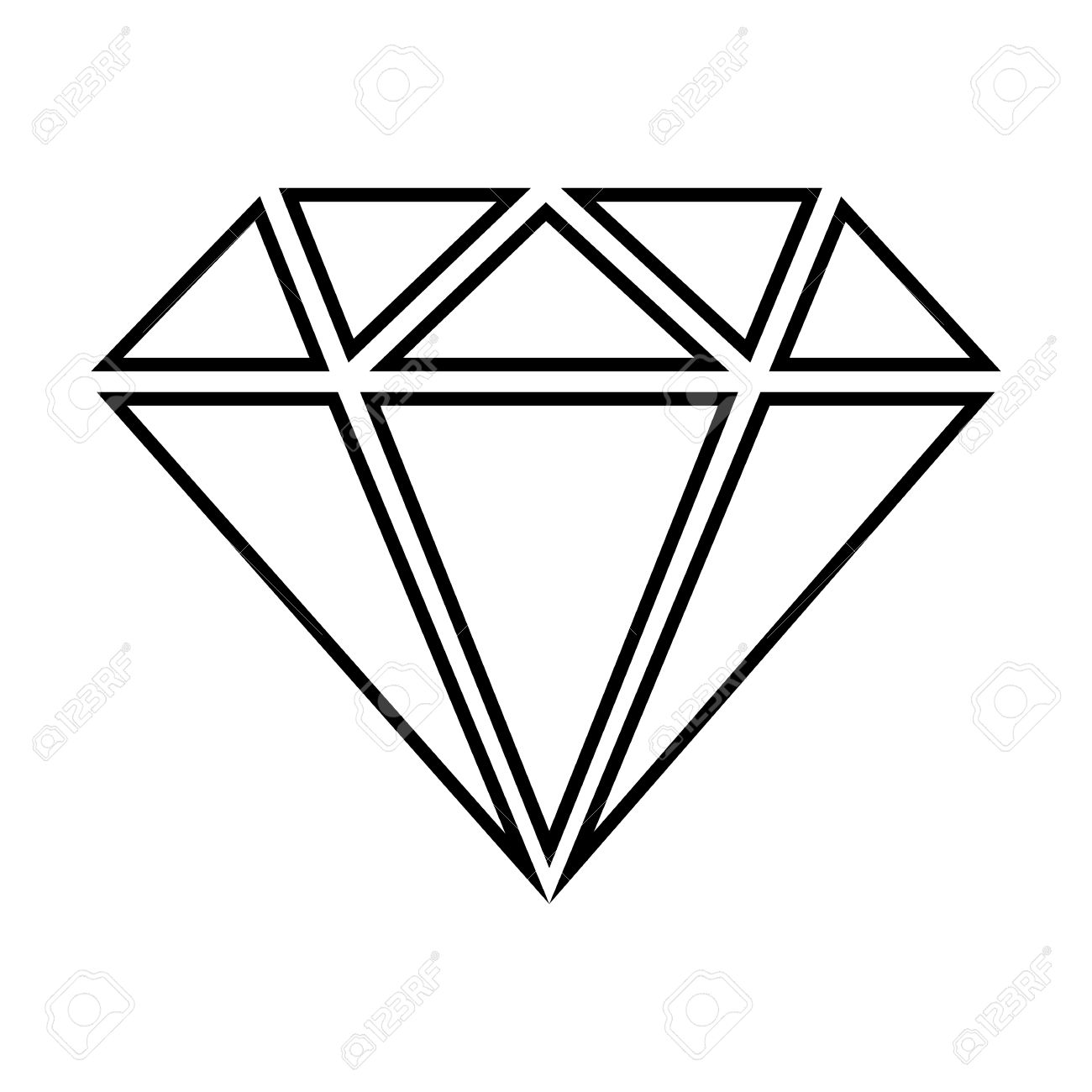 Line Art Diamond : Diamond line art free download best on