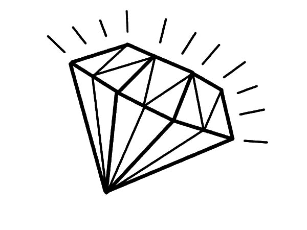 Line Drawing Diamond : Diamond line art free download best on