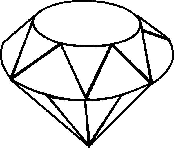 600x509 Diamond Line Drawing