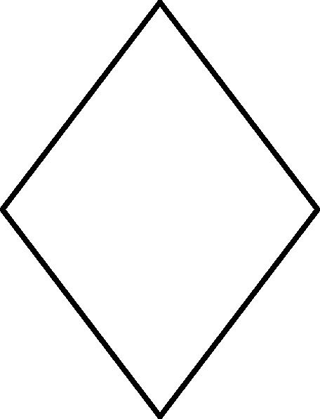 456x597 Diamond Outline Clip Art