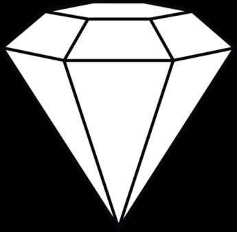 345x338 Diamond Clipart Diamond Outline