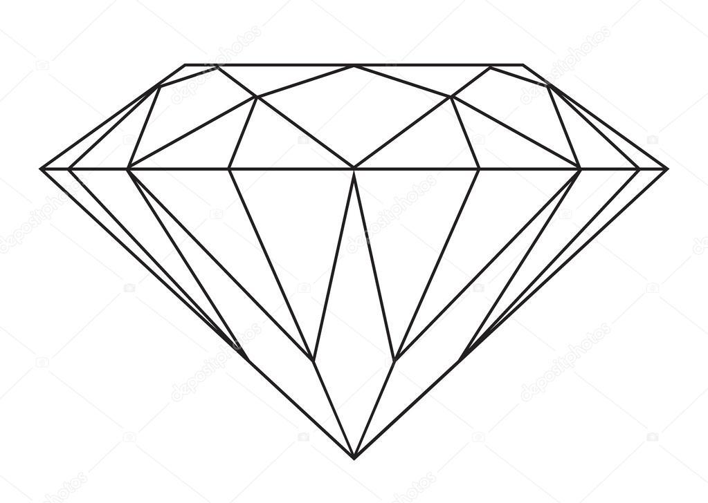 1023x728 Outline Of A Diamond