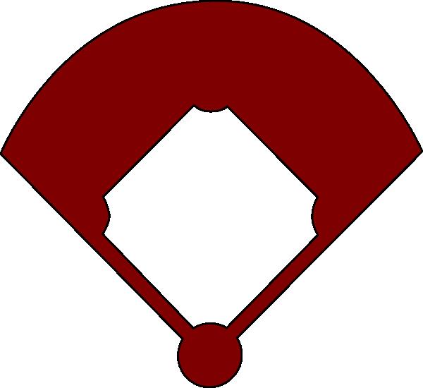 600x550 Baseball Diamond Outline