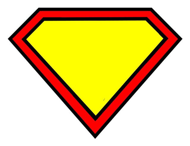 640x494 Superman Diamond Outline Clipart