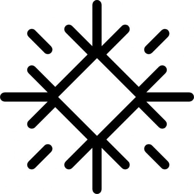 626x626 Winter Snowflake With Diamond Outline Icons Free Download