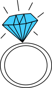 177x297 Diamond Ring teal Clip Art