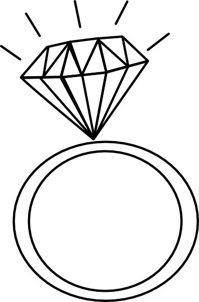 390x591 Vector and diamond ring clipart black and white favorite