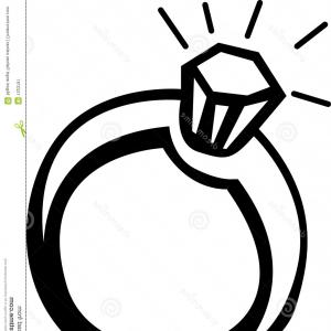 300x300 diamond ring template clipart black and white
