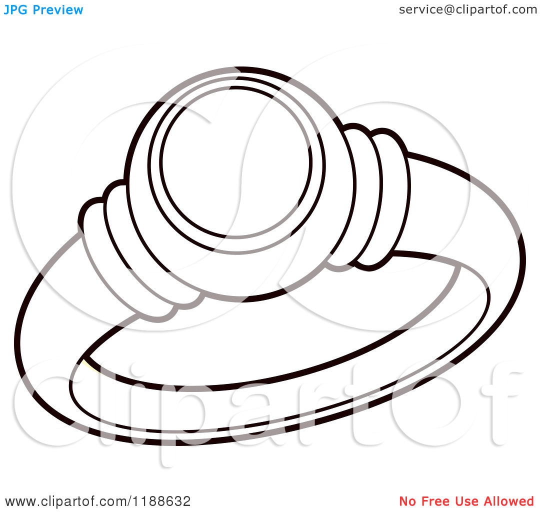 1080x1024 Diamond Ring Clipart Black And White Ring diamantbilds