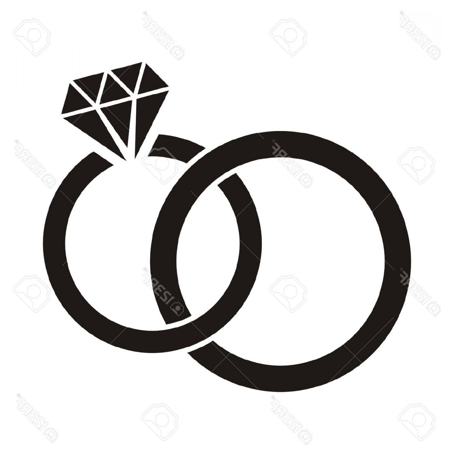 1560x1560 Clipart Wedding Rings Intertwined Ideas