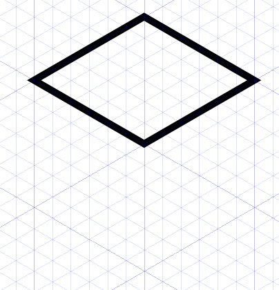 404x420 Drawn Diamond Shape