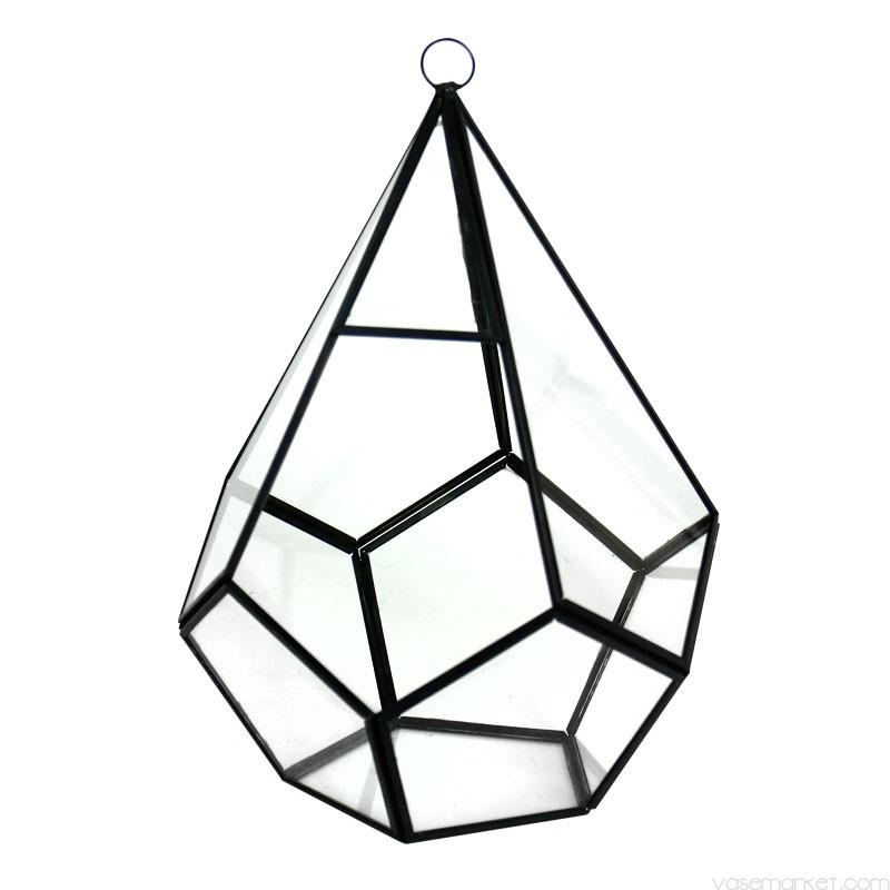 800x800 Hanging Terrarium Diamond Shape With Chain H 10 Vase Market