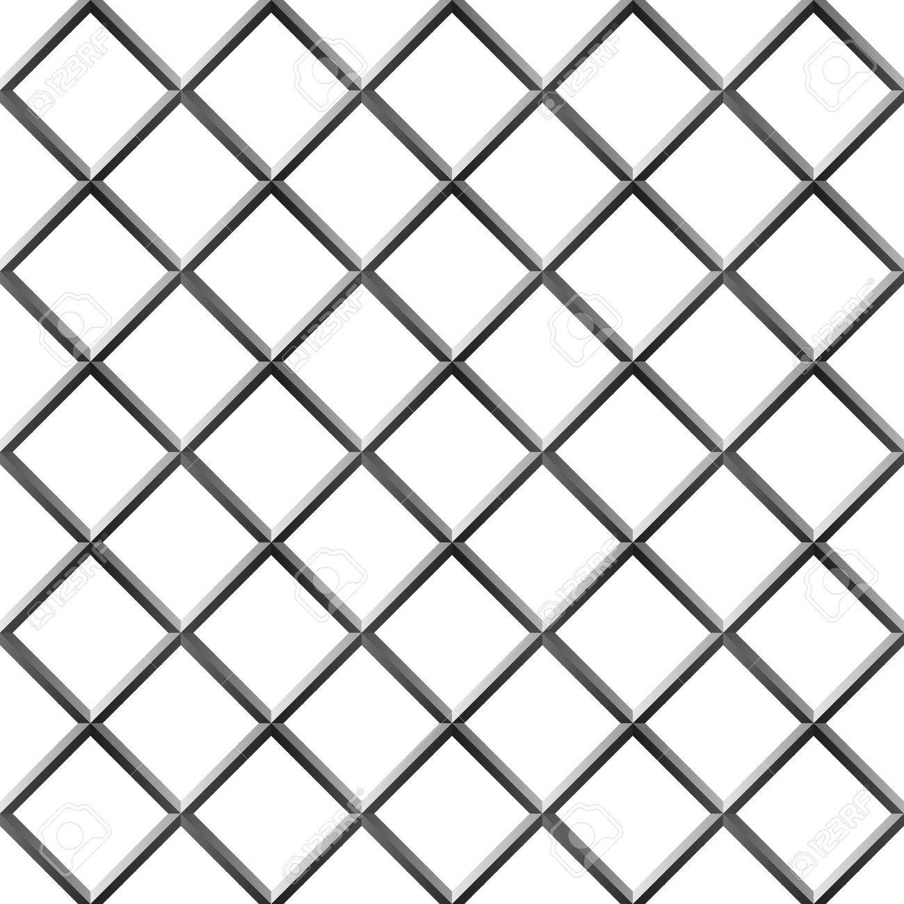 1300x1300 Seamless Metal Diamond Shape Grill Isolated On White Royalty Free